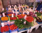 Vegetable stall at wet market