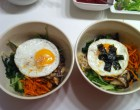 Bibimbap finished off with some seaweed and sesame seeds