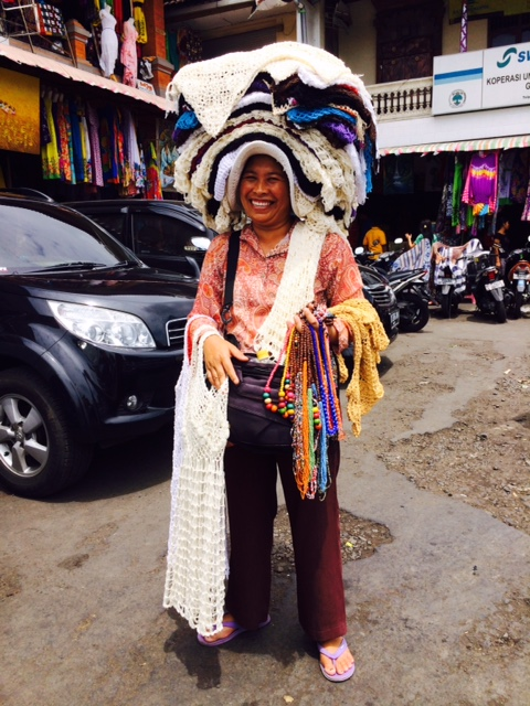 Market seller at Sukawati Bali Ubud