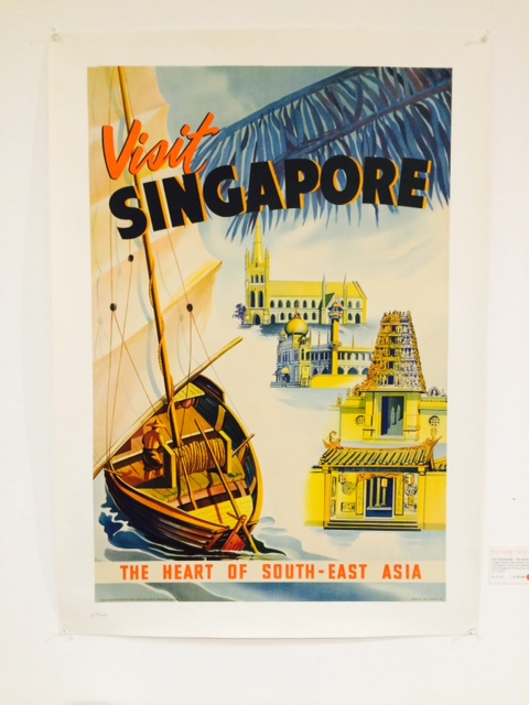 Visit Singapore vintage poster