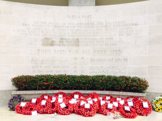 Poppies Remembrance Sunday at Kranji