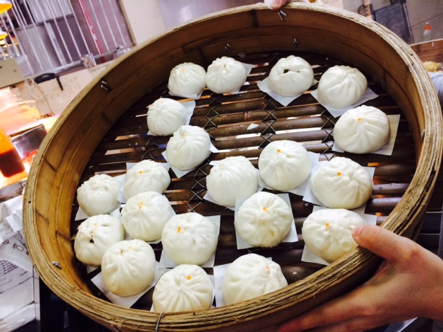 Steamed, fresh char siew pau