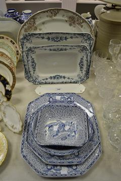 Adams China platters - all vintage buys bought at regional uk auctions
