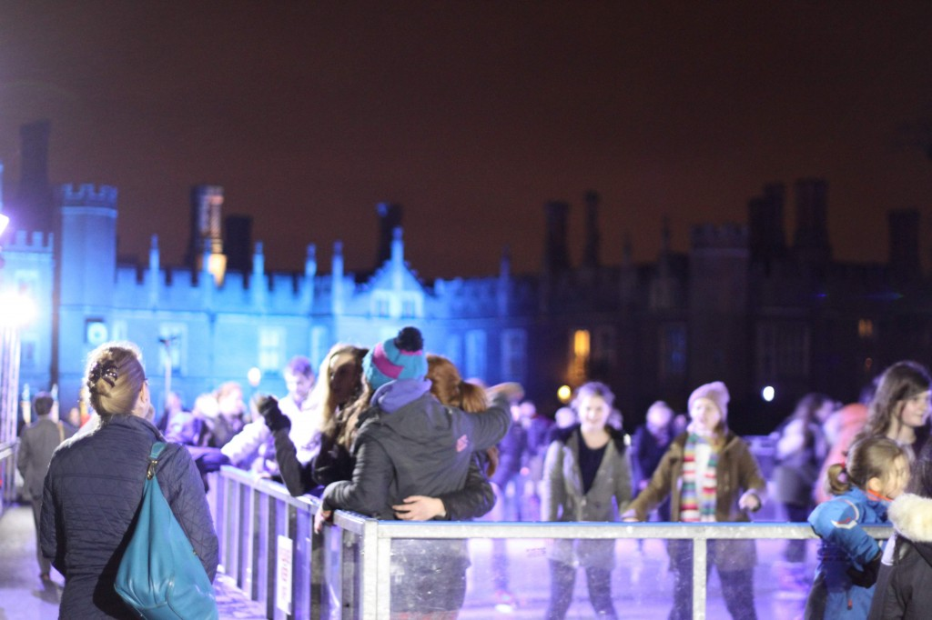 Skating at Hampton Court Palace