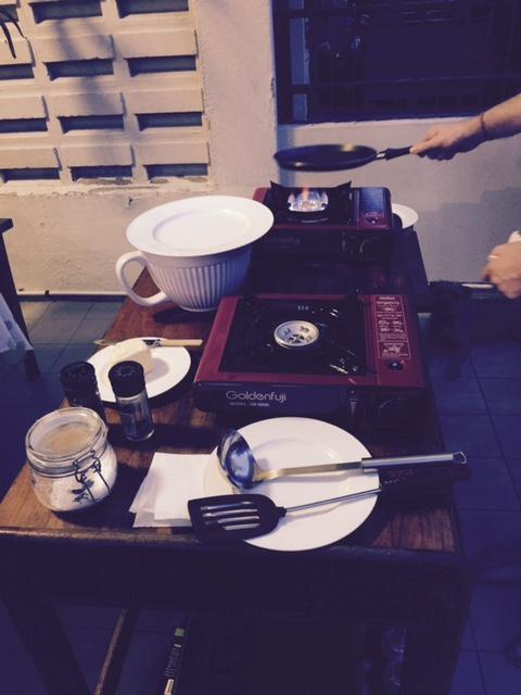 Pancake station