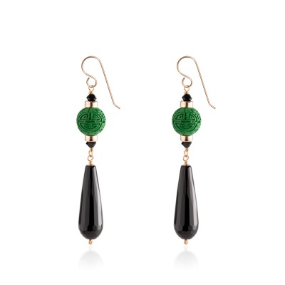 Janet's Onyx earrings