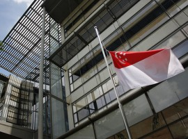 Flags fly at half mast today in Singapore