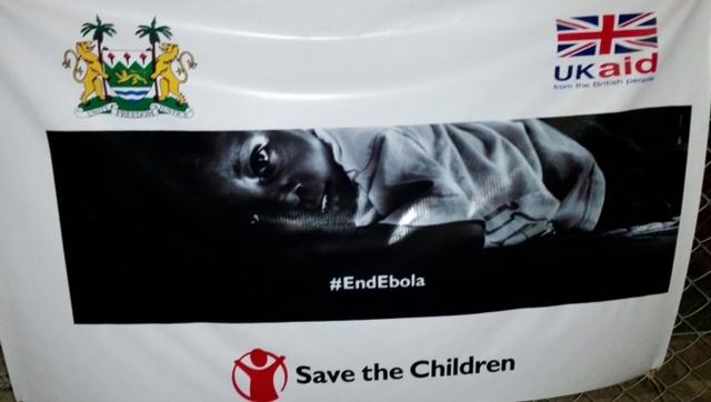 Ebola Save the Children poster