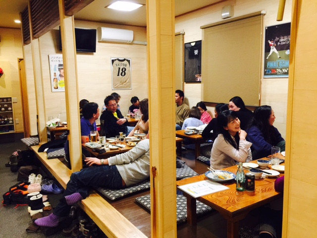 Dining at the izakaya
