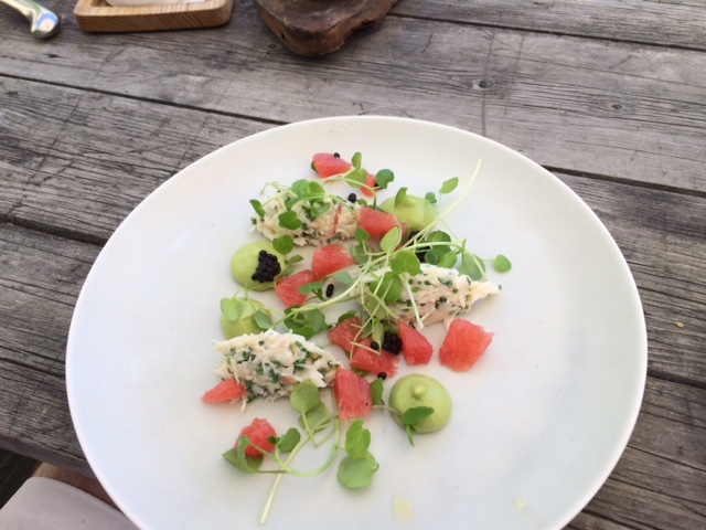 Handpicked crab salad at The Wild Rabbit